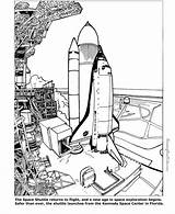 Coloring Pages Space Printable Shuttle Sheets Printables sketch template
