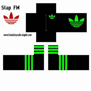 Adidas Black and Neon Green Roblox