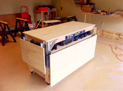 ana white    mobile workbench diy projects