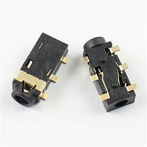 200pcs 2 5mm Female Audio Connector 6 Pin Smt Stereo Phone