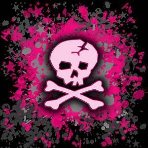 Image Gallery pink skulls