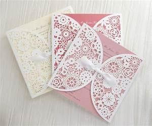 laser cut floral lace personalised wedding invitations With laser cut wedding invitations uk vintage lace