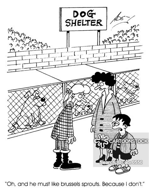 dog shelters cartoons  comics funny pictures
