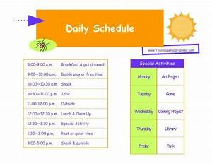 25 best ideas about daily schedule kids on pinterest With kids weekly schedule template