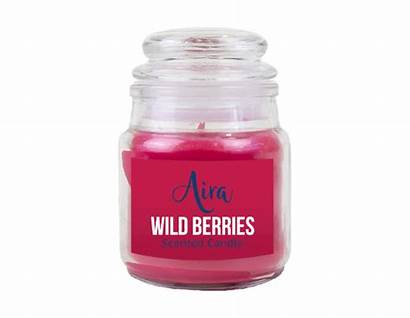 Candle Jar Scented Lid Wild Glass Berries