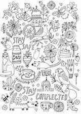 Coloring Pages Flow Magazine Comforting Jennifer Lewis Adults Printable Inspirations Orkin Stayconnected Staysafe Flowmagazine Craft Drawings Creative Artikel sketch template