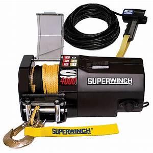 Superwinch U00ae S4000 Sr 6 400-lb  Trailer Winch
