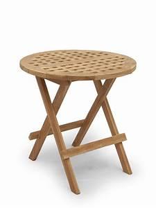 Beistelltisch Holz Rund : garten tisch beistelltisch rund aufklappbar aus massivem teak holz 2691 ebay ~ Frokenaadalensverden.com Haus und Dekorationen