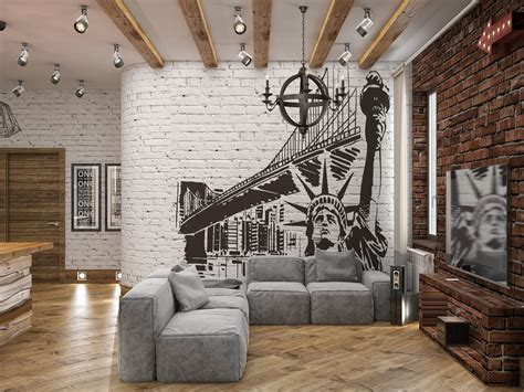 Rich Industrial Style Unites Colours With Exposed Brick Walls by Home Designing Rich Industrial Style Unites Colours