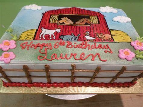 Farm Sheet Cake  2nd Birthday  Pinterest Birthdays