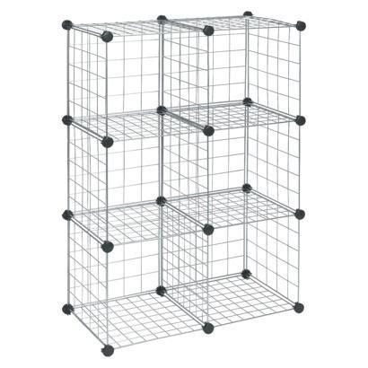 Closetmaid Wire Organizer closetmaid wire 6 cube organizer silver office cube