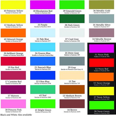 fluorescent l color chart fluorescent color chart pictures to pin on pinterest