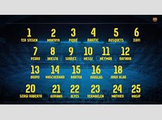 The numbers of Barça players for next season We Love Barça