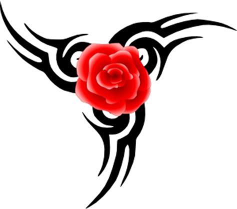 tribal tattoo rose clip art clkercom vector
