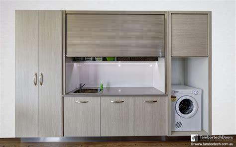 roller shutter cabinets for kitchen display showroom tambortech