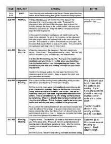 Teacher Emergency Sub Plans