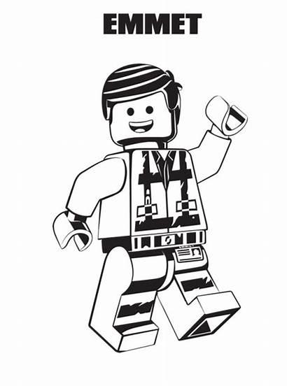 Lego Coloring Emmet Printable Pages Fun Scribblefun