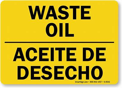 Oil Signs Waste Mysafetysign Sign Chemical Hazard