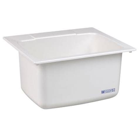 Mustee Utility Sink Home Depot by Mustee 22 In X 25 In Molded Fiberglass Self