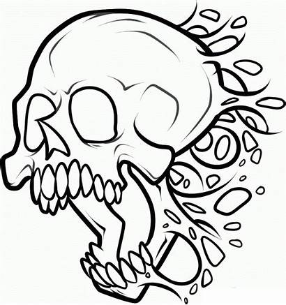 Skull Coloring Pages Printable Getcoloringpages