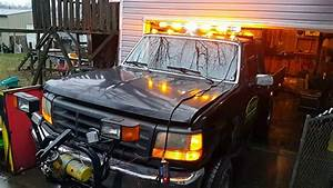 Working On Stl Lights On Snow Plow Truck