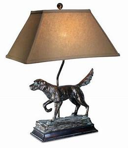 Hunting dog lamp english irish setter retriever rustic for Dog lamps home decor