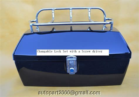Dark/light Blue Motorcycle Trunk Tail Box Yamaha Royal