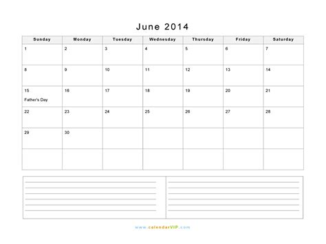June 2014 Calendar Template Costumepartyrun