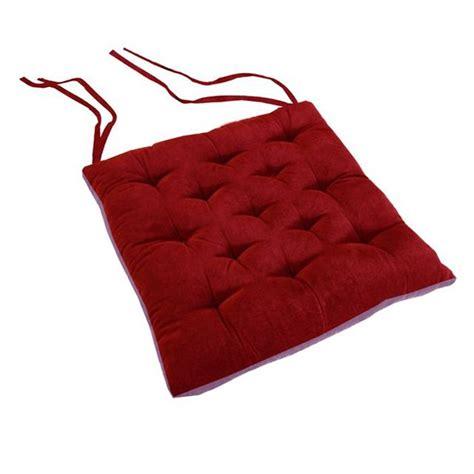 galette de chaise forme trapeze galette de chaise bicolore velours fraise myrtille achat