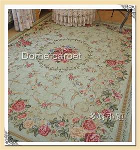 French Country Traditional Classic Chinese Floral Green ...