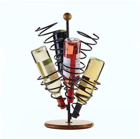 wire wine racks spiral 6 bottle wire wine rack pfaltzgraff