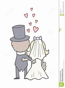 Cute Bride And Groom Clipart