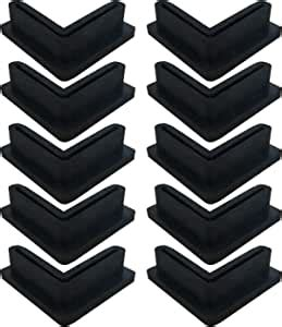 angle iron  shaped rubber foot pads covers  shelving