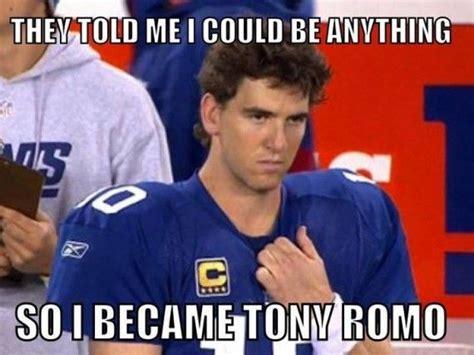 Tony Romo Memes - eli manning pulls a romo against tony romo led cowboys nfl pinterest sports memes tony