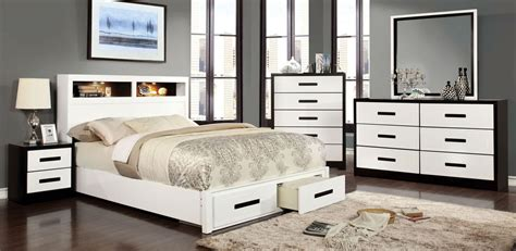 storage furniture for bedroom rutger white and black storage bedroom set from furniture 17424 | cm7298