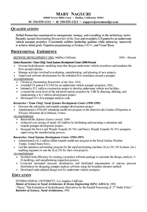 technical research resume