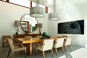 107 idees fantastiques pour une salle a manger moderne With salle À manger contemporaine avec lit rond