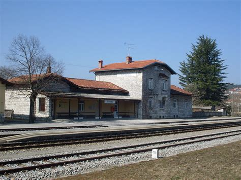 Train Station Štanjel (actually Located Between Štanjel