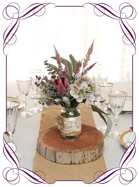 mackenzie table posy centrepiece jar options gorgeous