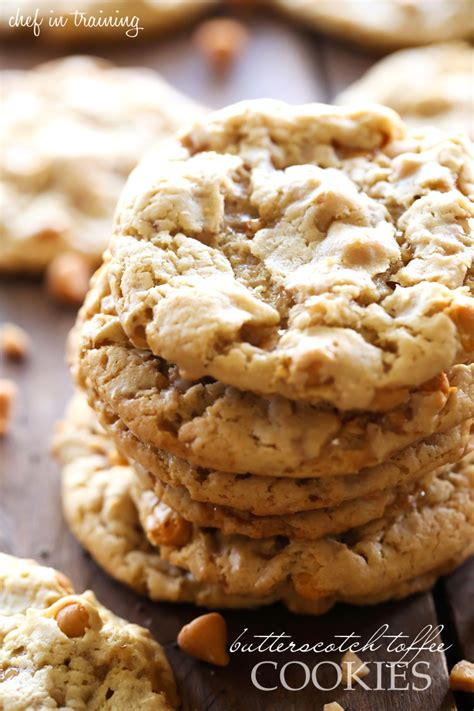 butterscotch toffee cookies chef  training