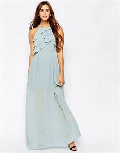 Robe été Mariage : longue robe ete fluide bleu pastel mariage la robe longue ~ Preciouscoupons.com Idées de Décoration