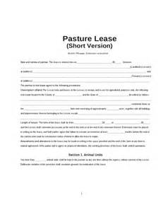 Simple Pasture Lease Agreement Form