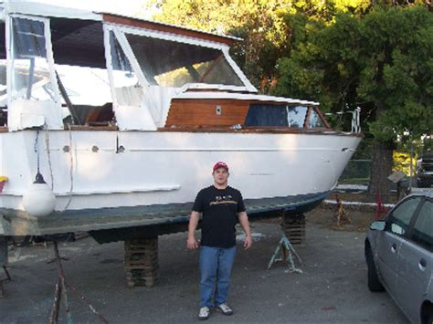 Cabin Cruiser Project Boats by 1960 Trojan Cabin Cruiser In Need Of A New Bottom