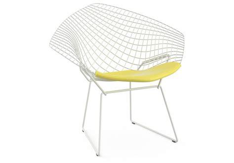 bertoia chair with cushion knoll milia shop