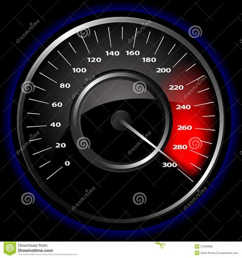Vector Speedometer Stock Vector. Illustration Of Measure