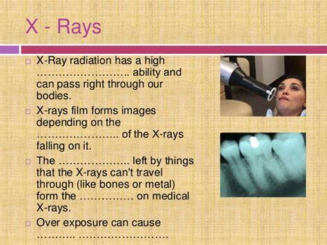 electromagnetic spectrum uses rays ray radiation its exposure