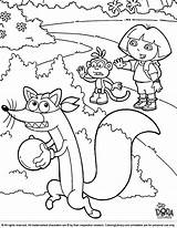 Dora Coloring Explorer Swiper Swiping Printable Colouring Map Cartoon Friends Coloringlibrary Library Birthday Fox Happy Sheets Favorite Characters Sheet Paint sketch template