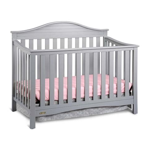 gray convertible crib graco harbor lights 4 in 1 convertible crib in pebble gray