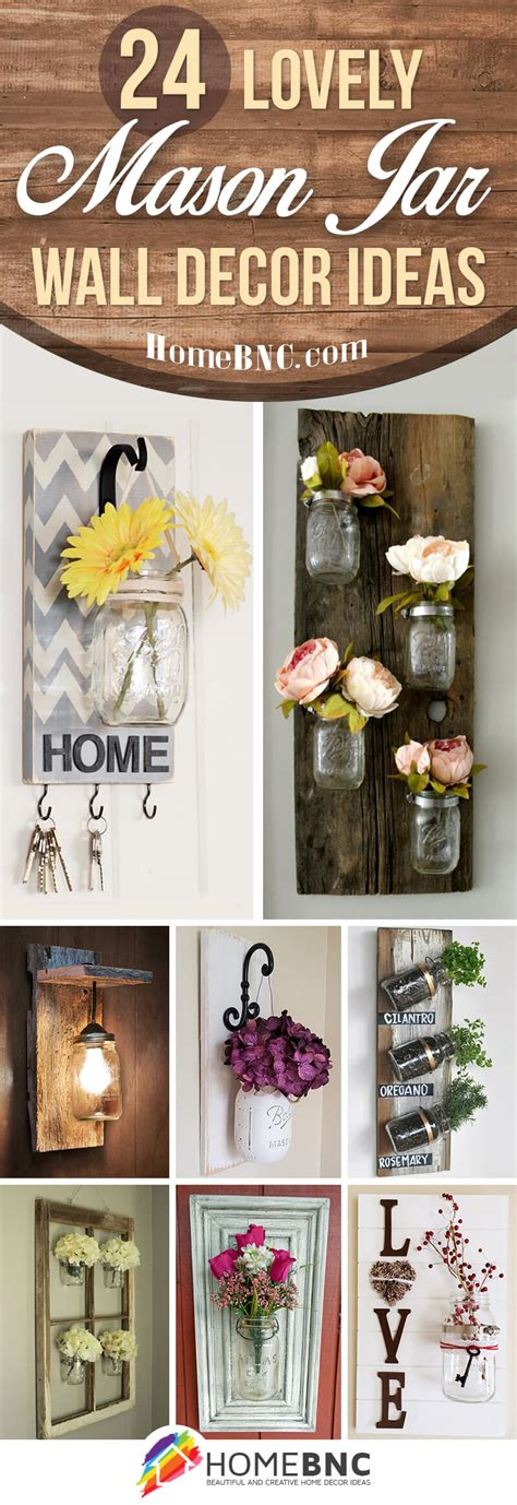 Jar Home Decor Ideas by 24 Best Jar Wall Decor Ideas And Designs For 2019