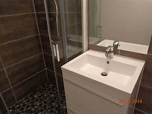 emejing salle de bain douche a litalienne images awesome With petit miroir salle de bain